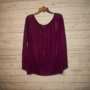 Lane Bryant Women's Blouse Size 14/16 Purple